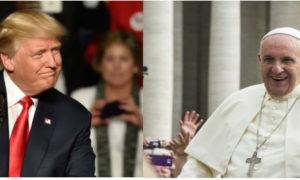 Donald Trump rencontre le Pape Francois